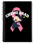 Breast Cancer Awareness Art For Warrior Women Dark Spiral Notebook