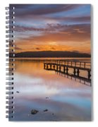 Early Morning Clouds And Reflections On The Bay Spiral Notebook