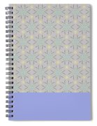 A Repeating Pattern Featuring A Multi-colored Conceptual Flower  Spiral Notebook