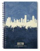 Boston Massachusetts Skyline Spiral Notebook