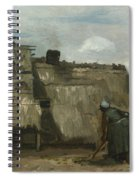 A Peasant Woman Digging In Front Of Her Cottage Spiral Notebook