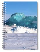 Arctic Ice Spiral Notebook