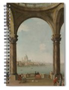 Capriccio With St. Pauls And Old London Bridge Spiral Notebook