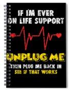 Computer Restart Geek Pun Apparel Spiral Notebook