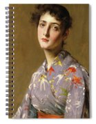 Girl In A Japanese Costume Spiral Notebook