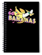 Go Bananas Good Old Times Born In The 90s Retro Rustic Spiral Notebook