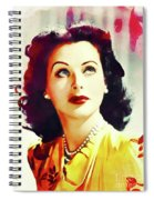 Hedy Lamarr, Vintage Movie Star Spiral Notebook