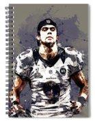 Justin Tucker.baltimore Ravens Spiral Notebook