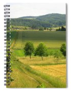 Photograph Of A Field In Germany Spiral Notebook