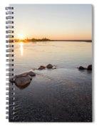 Platte River At Dusk Spiral Notebook