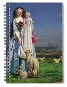 Pretty Baa-lambs Spiral Notebook