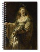 Saskia Van Uylenburgh In Arcadian Costume  Spiral Notebook