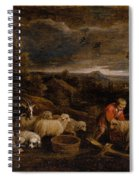 Shepherds And Sheep  Spiral Notebook