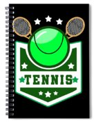 Tennis Player Tennis Racket I Love Tennis Ball Spiral Notebook