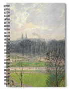 The Garden Of The Tuileries On A Winter Afternoon  Spiral Notebook