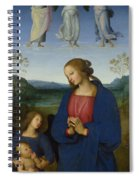 The Virgin And Child With An Angel  Spiral Notebook