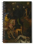 The Vision Of Saint Eustace  Spiral Notebook