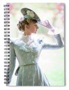 Victorian Woman In The Garden Spiral Notebook