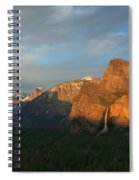 View Of Yosemite Valley From Tunnel View Point At Sunset Spiral Notebook