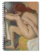 Woman Drying Her Foot  Spiral Notebook