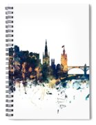 Edinburgh Scotland Skyline Spiral Notebook
