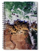 Aerial View Of The Beach, Newport Spiral Notebook