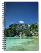 Diniwid Resort Beach View In Tropical Paradise Boracay Island Ph Spiral Notebook