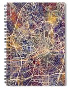 Frankfurt Germany City Map Spiral Notebook