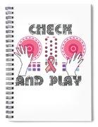 Naughty Breast Cancer Awareness Art For Women Light Spiral Notebook