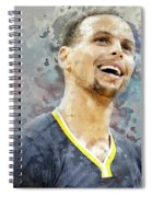 Portrait Of Stephen Curry Spiral Notebook