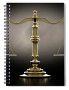 Scales Of Justice Dramatic Spiral Notebook