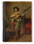 Soldier Playing The Theorbo  Spiral Notebook