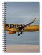Spirit Airlines Airbus A320-232 Spiral Notebook