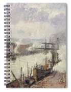 Steamboats In The Port Of Rouen  Spiral Notebook