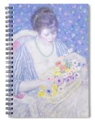 The Basket Of Flowers Spiral Notebook