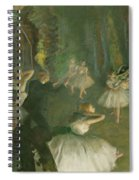 The Rehearsal Of The Ballet Onstage  Spiral Notebook