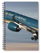 Vietnam Airlines Airbus A350 Spiral Notebook