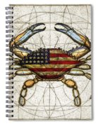 4th Of July Crab Spiral Notebook