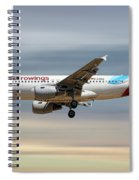 Eurowings Airbus A319-112 Spiral Notebook