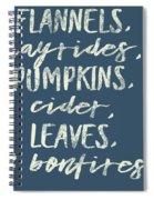 Flannels Hayrides And Pumpkins Fall Tshirt Spiral Notebook