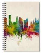 Milan Italy Skyline Spiral Notebook
