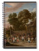 Peasants Dancing And Feasting  Spiral Notebook