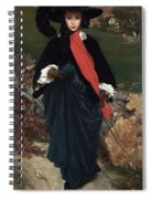 Portrait Of May Sartoris Spiral Notebook