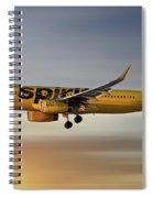 Spirit Airlines Airbus A320-232 Spiral Notebook