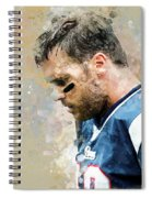 Tom Brady.new England Patriots. Spiral Notebook