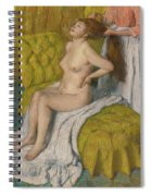 Woman Having Her Hair Combed  Spiral Notebook