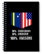 50 Curacaoan 50 American 100 Awesome Spiral Notebook
