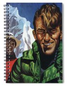 Hillary And Tensing In Front Of Mount Everest Spiral Notebook