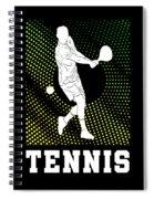 Tennis Player Tennis Racket I Love Tennis Ball Spiral Notebook