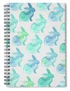 Watercolor Bunnies 1i Spiral Notebook